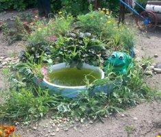 Декоративный бассейн на даче своими руками