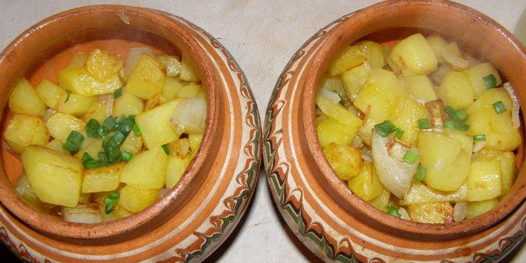Повседневные блюда в горшочках с овощами