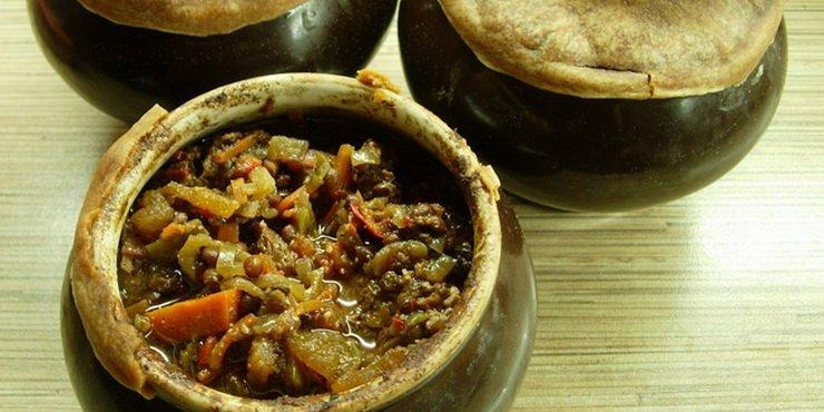 Повседневные блюда в горшочках с овощами фото