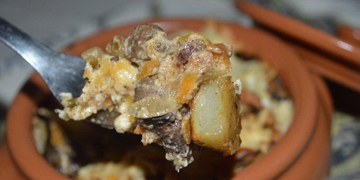 Рагу из говядины с грибами