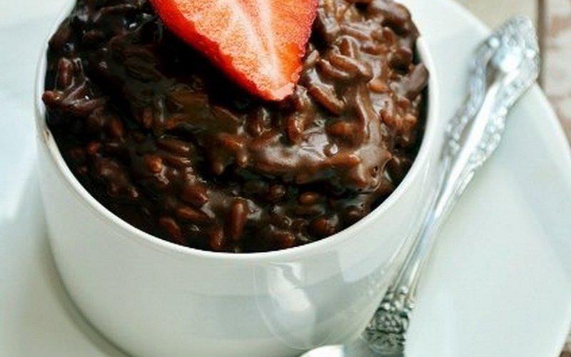Шоколадная рисовая каша