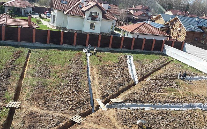 Дренаж глинистого участка