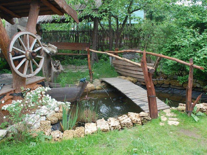 Декор для сада из дерева