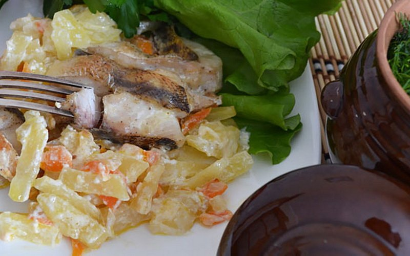 Рецепты рыбы, приготовленной в горшочках с овощами фото