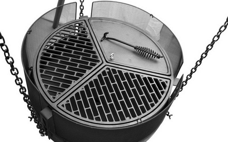 Чугунная решетка гриль для барбекю и мангала фото