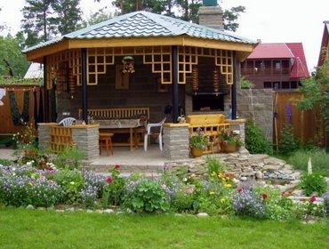 Летняя кухня на даче и в частном доме: виды и варианты с фото