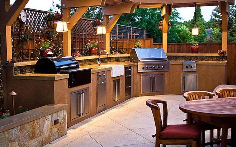 Другие варианты летней кухни на даче (с фото)