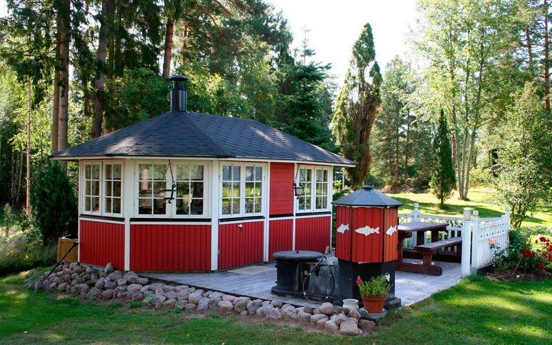 Открытые и закрытые виды простых летних кухонь на даче (с фото) фото
