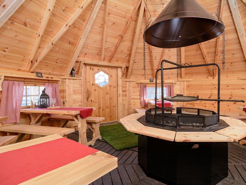 Финский гриль домик с барбекю