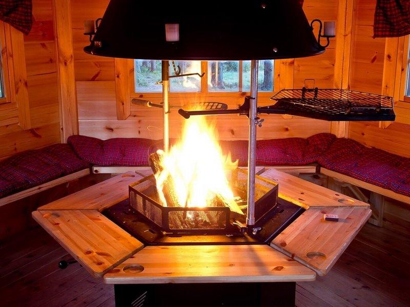Домик с газовой или электрической плитой