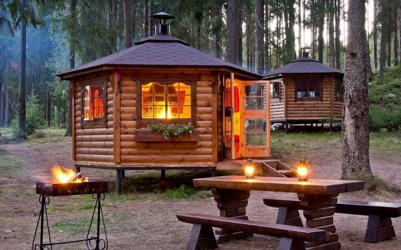 Финские беседки и гриль домики с барбекю для дачи: фото внутри и снаружи