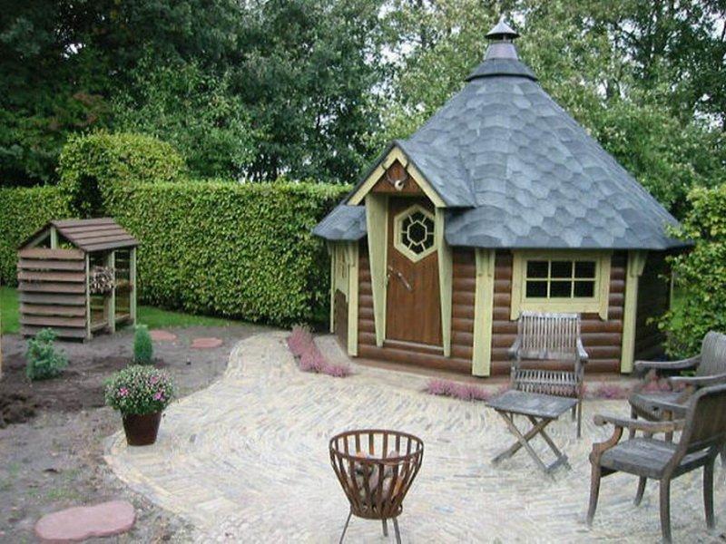 Деревянные домики гриль
