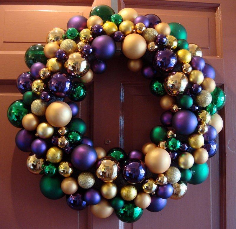 Делаем рождественский венок из шаров: изготовление своими руками