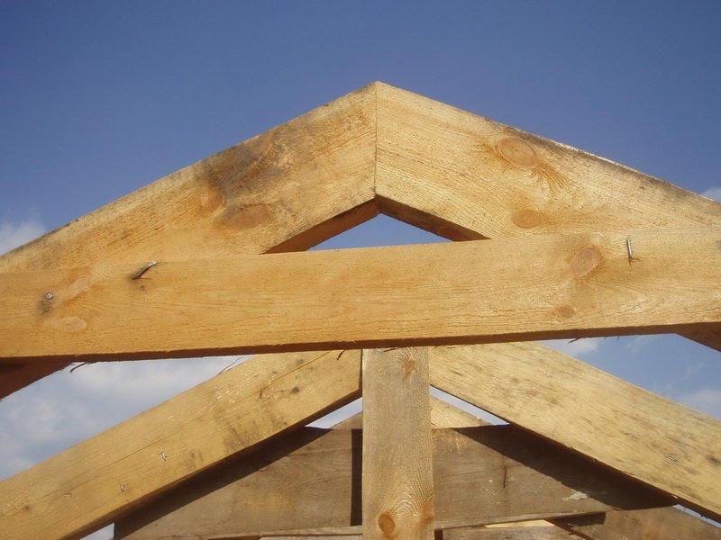 Строительство двускатной крыши