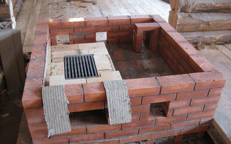 Фундамент под кладку кирпича для русской печи фото