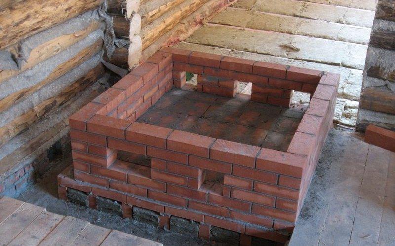 Фундамент под кладку кирпича для русской печи