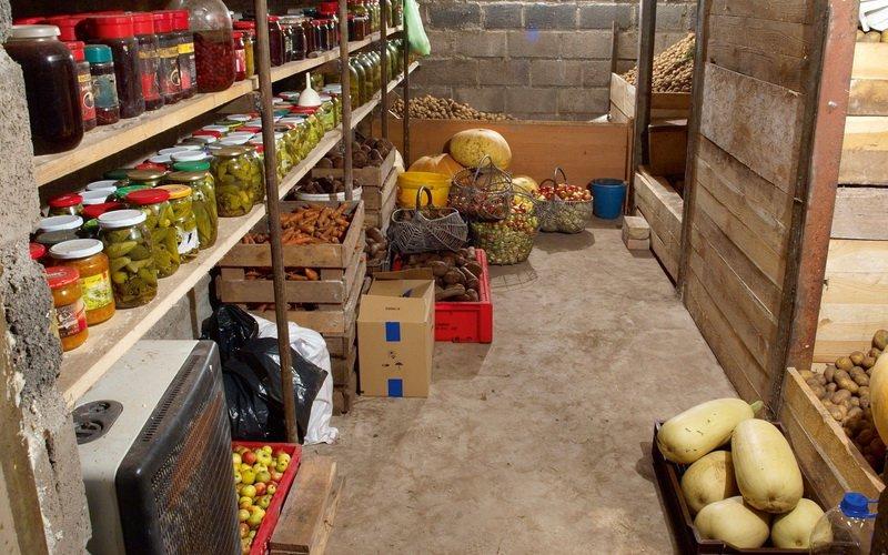 Помещение для хранения овощей и фруктов