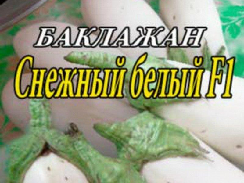 Семена баклажана «Снежный» на фото