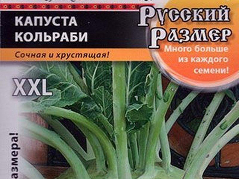 Семена капусты кольраби «Русский размер» F1 на фото