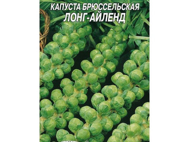 Семена брюссельской капусты «Лонг-Айленд» на фото
