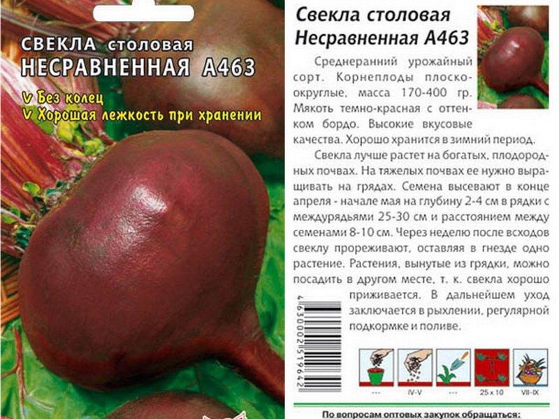 Семена свеклы «Несравненная А-463» на фото