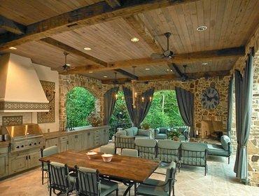 Как сделать крышу летней кухне на даче (с фото)