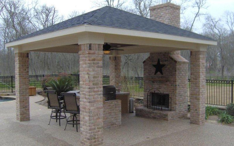 Летняя кухня на даче под навесом (с фото)