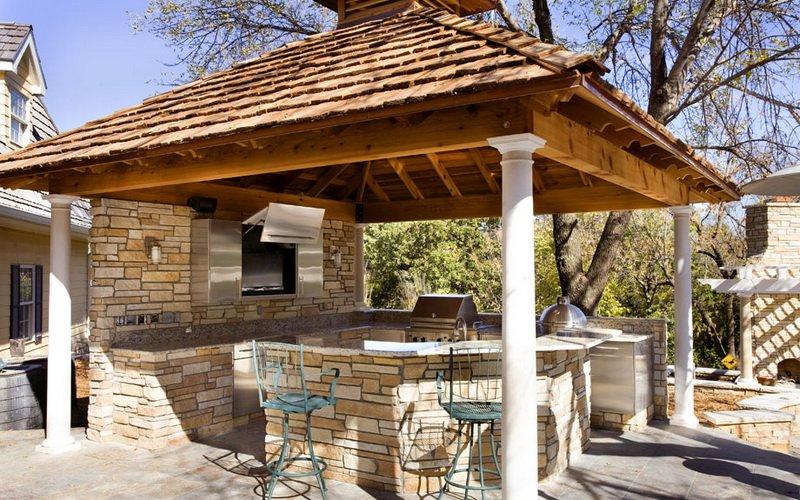 Летняя кухня на даче под навесом (с фото) фото