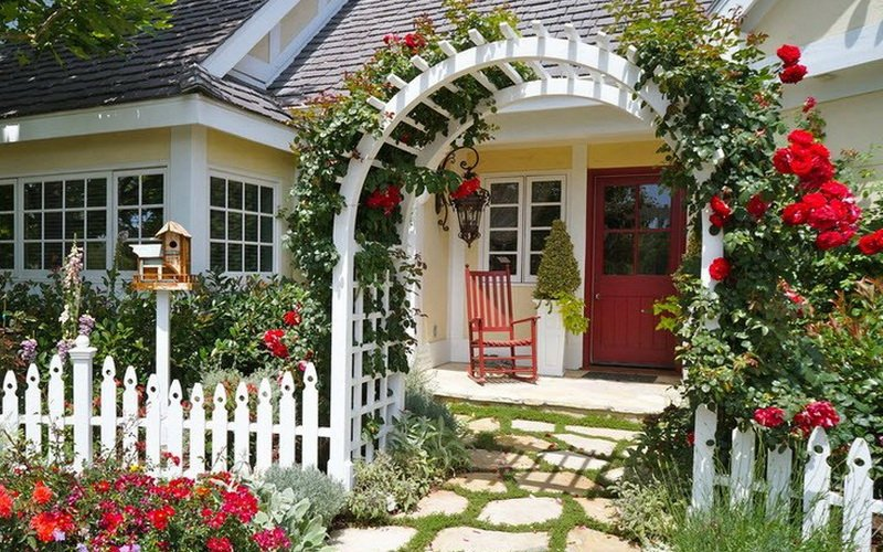 Как красиво оформить розарий на даче фото