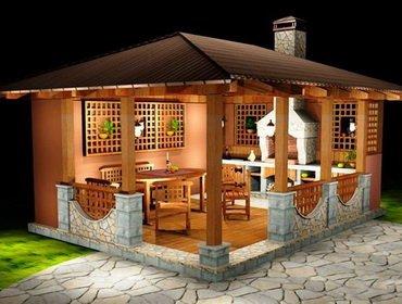 Строительство летних кухонь на даче: постройка по этапам