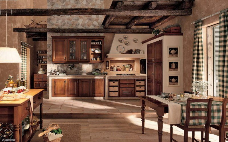 Красивая летняя кухня на фото