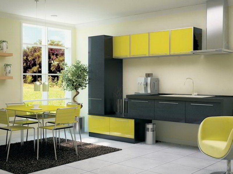 Дизайн летней кухни в стиле Хай-тек на фото