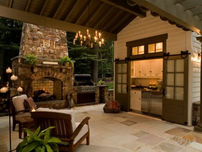 Дизайн летней кухни в стиле прованс на фото