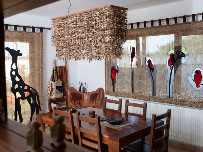 Дизайн летней кухни Африканский стиль (фото)