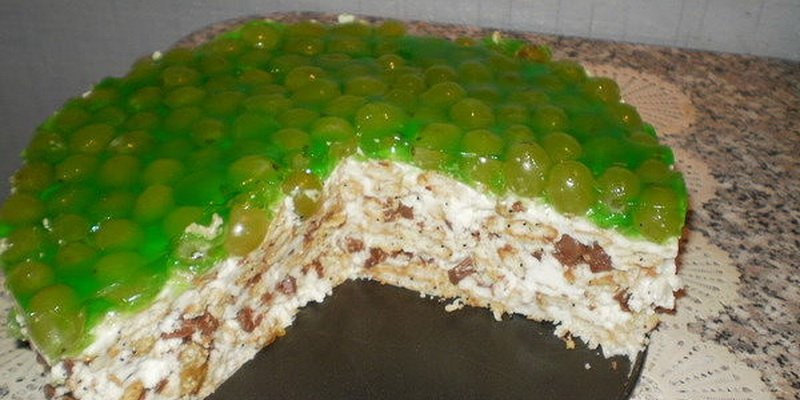 Торт и десерты из винограда: рецепты с фото фото
