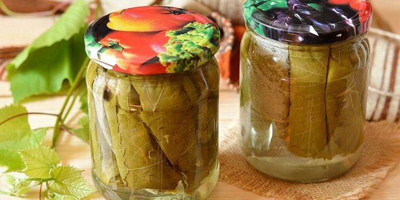 Рецепт приготовления маринованных и соленых листьев винограда для долмы