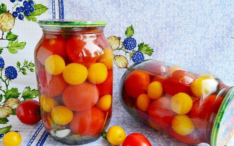 Как мариновать помидоры на зиму в банках: простые рецепты с видео фото