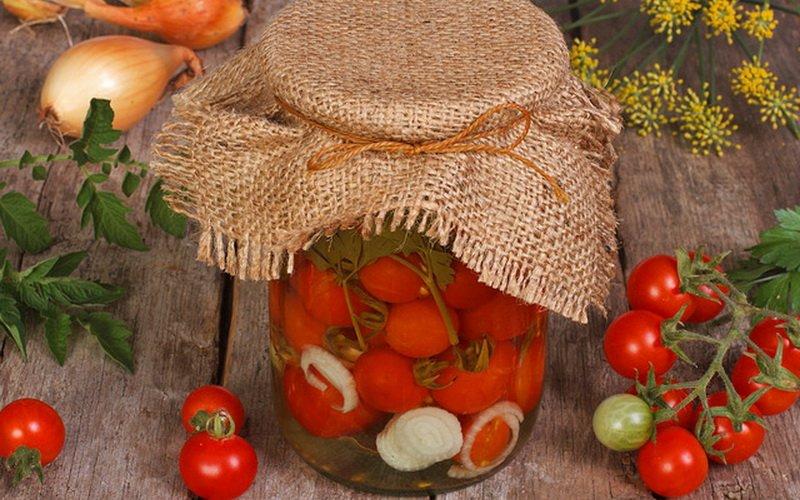 Рецепты помидоров, маринованных на зиму с уксусом фото
