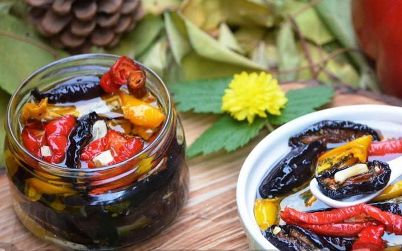 Как вялить баклажаны, перец и кабачки фото