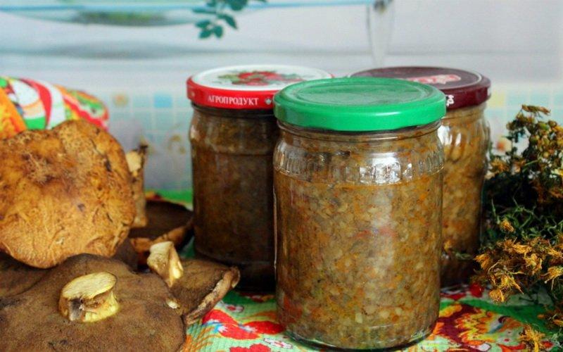 Рецепты грибной икры с морковью и помидорами фото