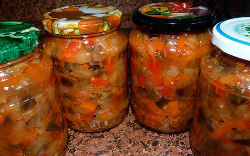 рецепты приготовления на зиму заготовок из баклажанов