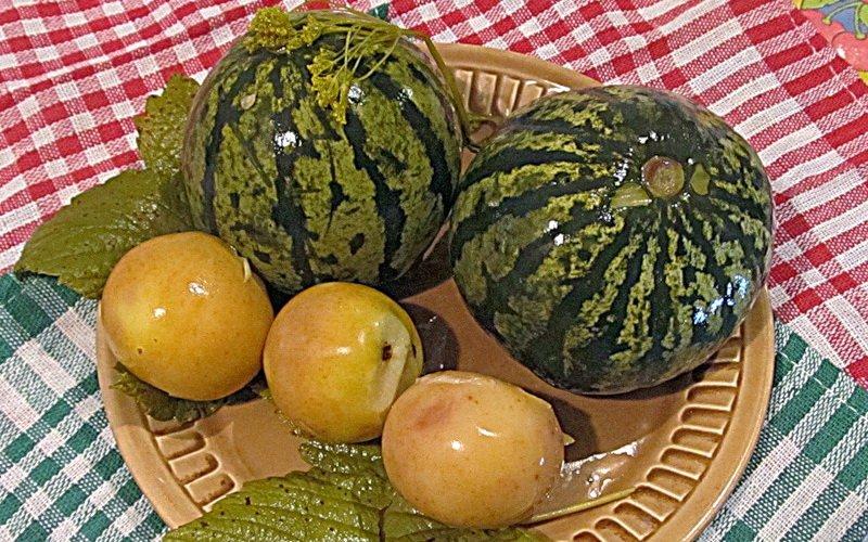 Рецепты моченой клюквы и арбузов фото