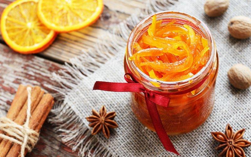 Варенье из корочек апельсинов или лимонов.