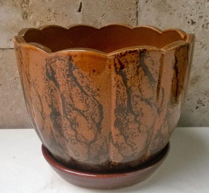 Керамический горшок для герани