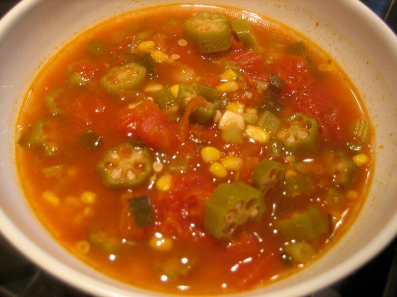 суп с бамией