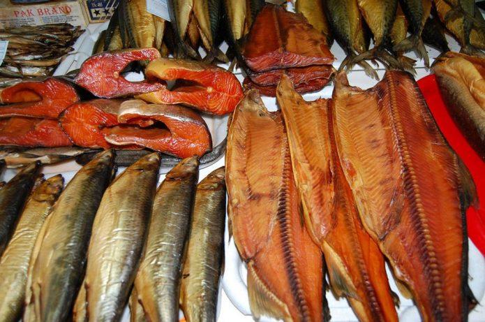 Разновидности копчёной рыбы