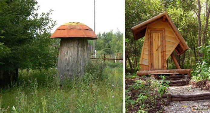 Необычные дачные туалеты