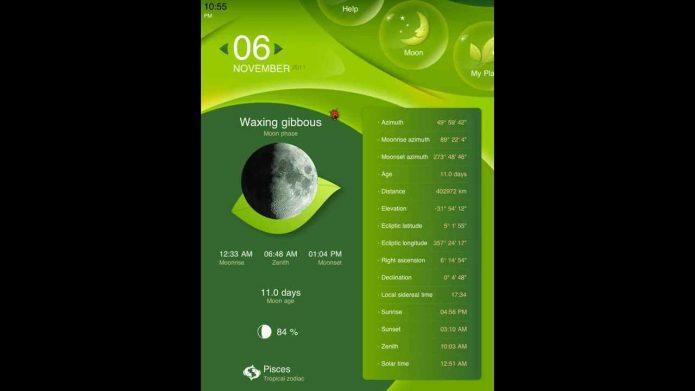 Приложение «Садоводство и Луна»