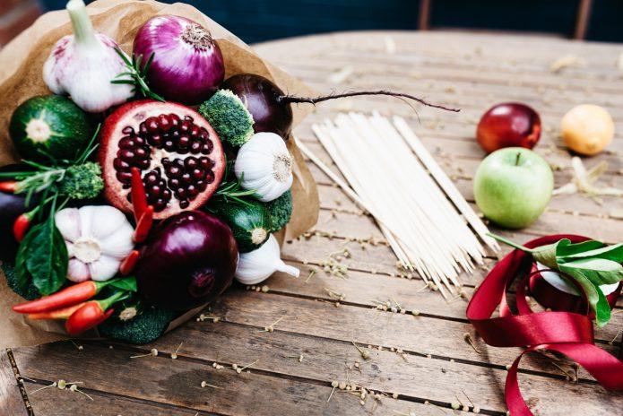 Создание букета из овощей