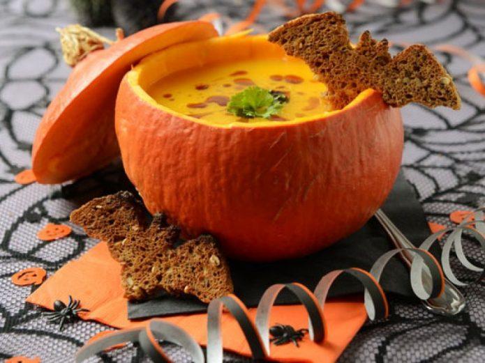 Суп из тыквы в тыкве